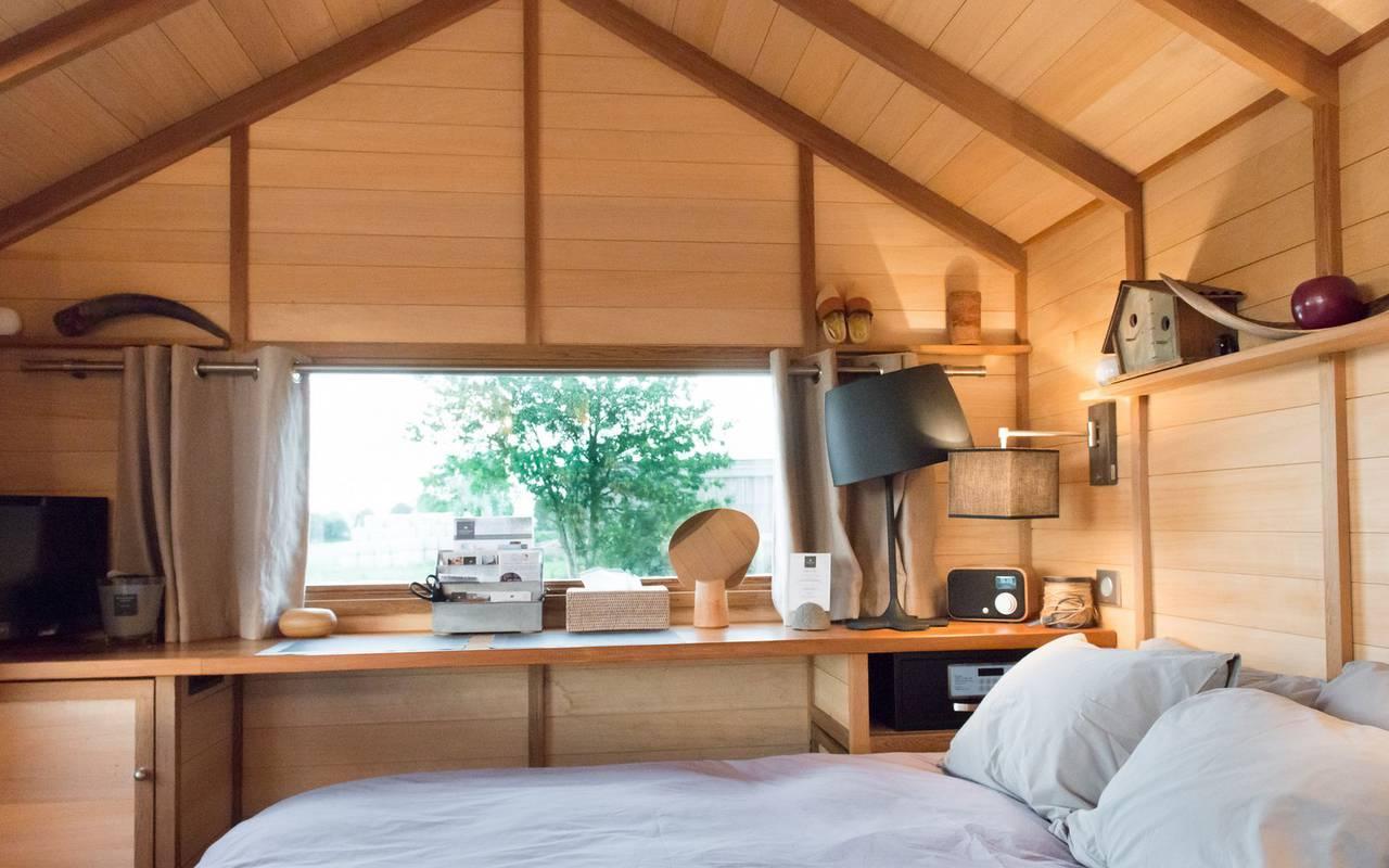 Chambre dans une cabane dans les arbres hôtel spa bourgogne