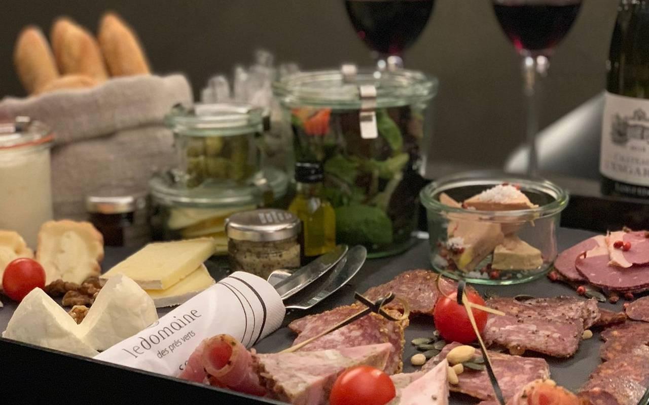 Plateau repas hotel de charme bourgogne