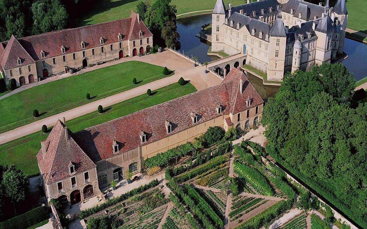 château vue du ciel cabane dans les arbres dijon