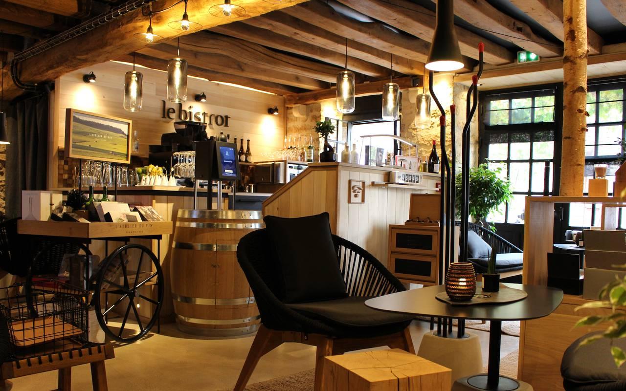 bar à vin de l'hôtel gastronomie Bourgogne