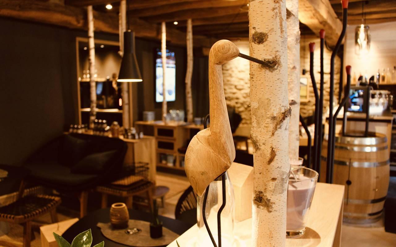 intérieur du bistrot avec décoration gastronomie bourgogne