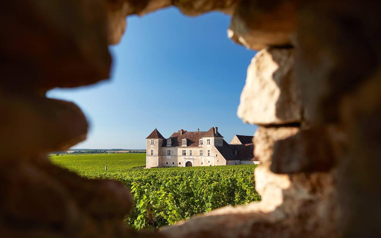 château dans un encadrement Bourgogne visite