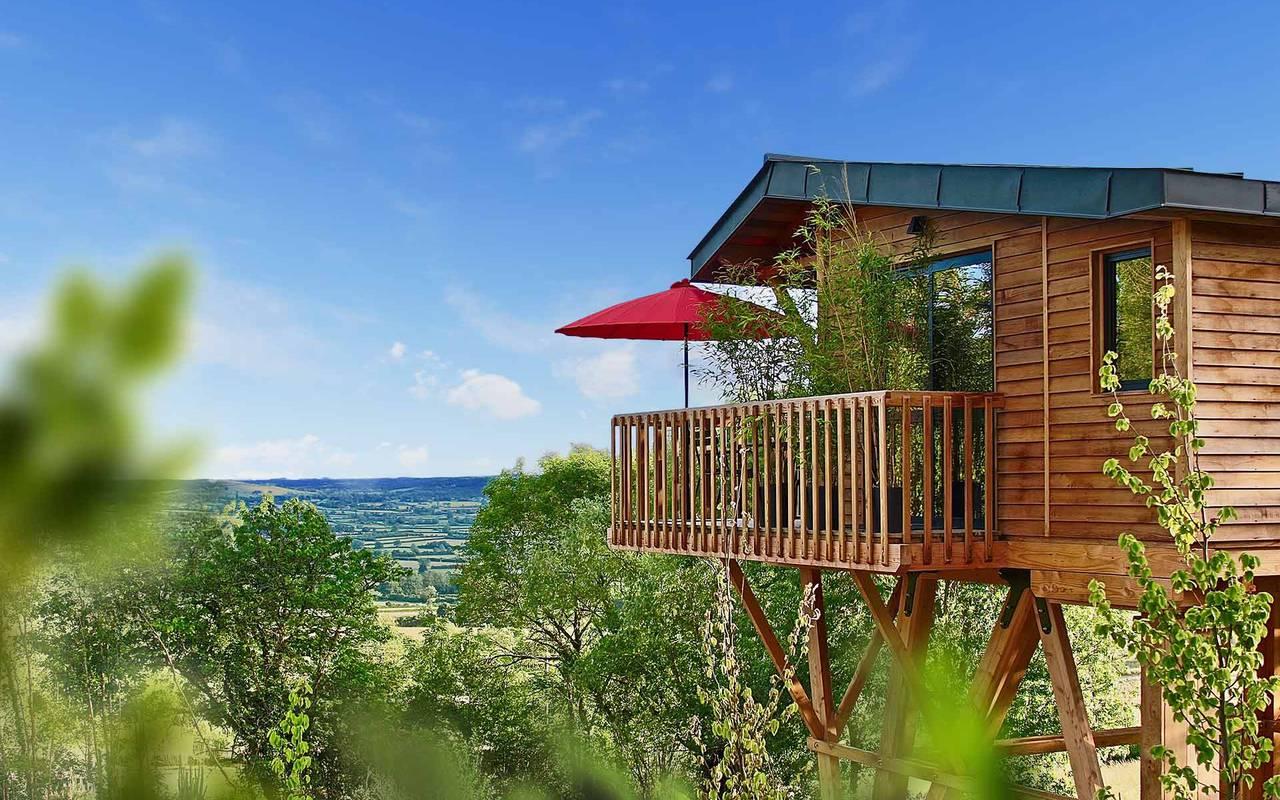 Lodge cabane dans les arbres beaune